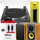 Audio-Technica LP60XBT BUNDLE with Edifier R1010BT (Wood)