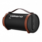 Volkano Blaster Series Speaker with Bluetooth, Aux In, SD Slot and FM Radio - Brown